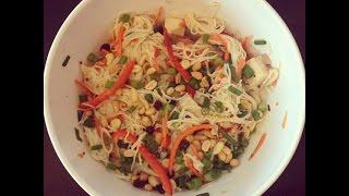Cold Tofu Noodle Salad Recipe ( Summer Salad Recipe Idea)