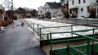 Ice Dam Breaks in Ithaca, New York