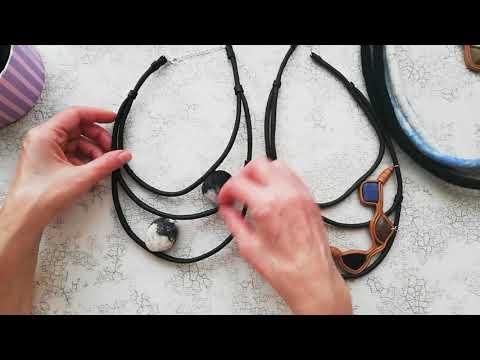 Обзор украшений из кожи и идеи с валяными шнурами