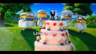 Underwear (I Swear) by the Minons Despicable Me 2 Karaoke (Best sound)
