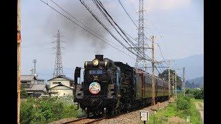 秩父鉄道 SLパレオエクスプレスとデキ貨物 2019年8月