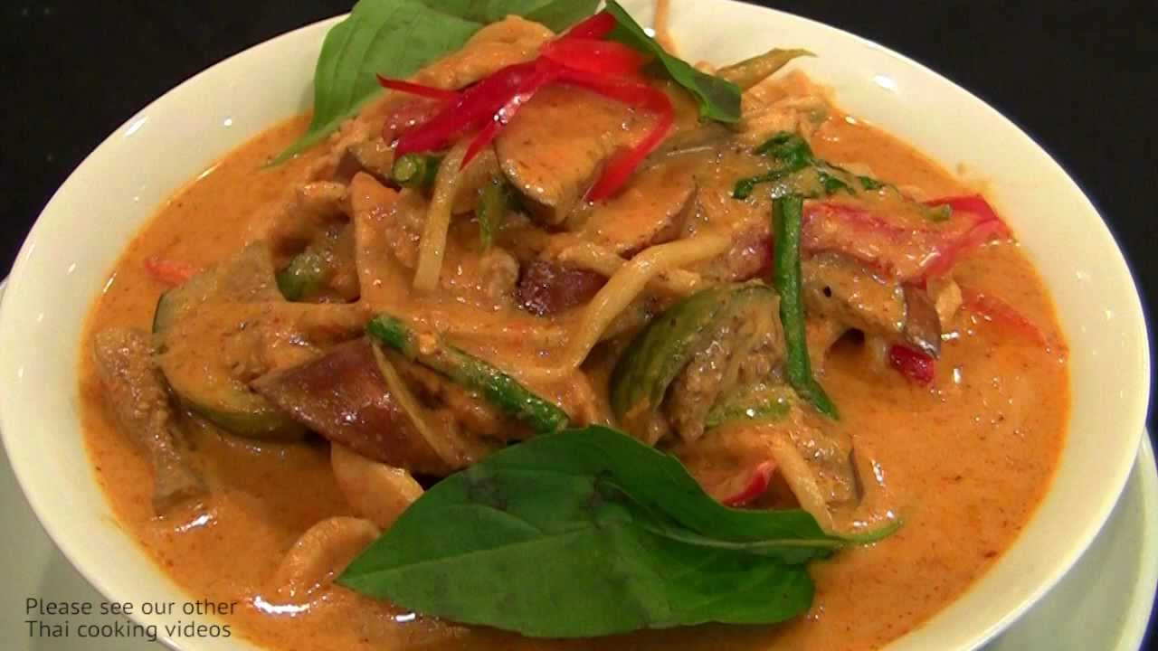 Thai cooking red curry chicken youtube - Thailand cuisine recipes ...