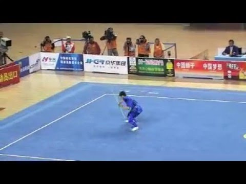 Compétition Kungfu (Wushu) Bâton en Chine