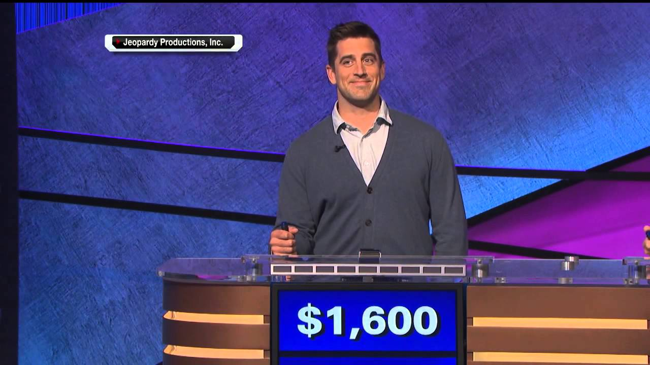 Aaron Rodgers Flubs Final Question on Celebrity Jeopardy ...