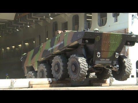 Renfort pour le Mali: un bateau français débarque à Dakar