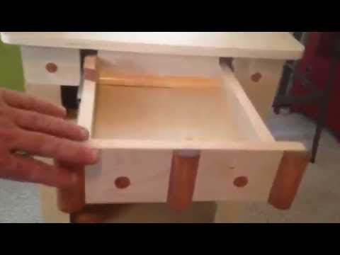 Hybay Nightstand Bedside Table W Secret Compartment Drawer For