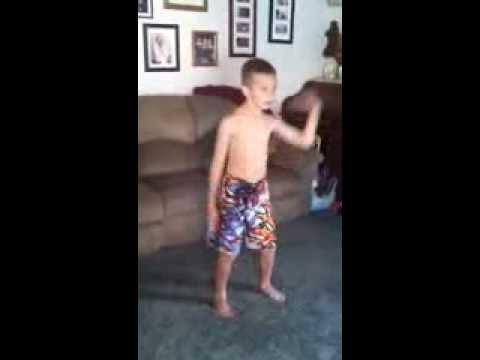 Jace doing dance revolution