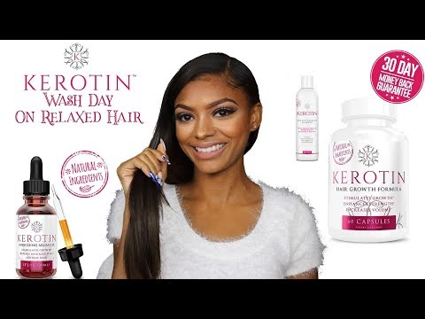 Kerotin Hair Care Review For Relaxed Hair | Jazzie Jae T