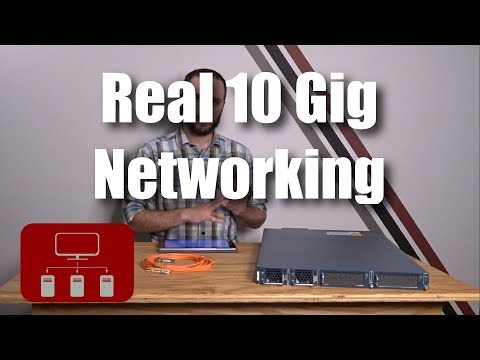 Real 10 Gigabit Networking at Home and on a Budget