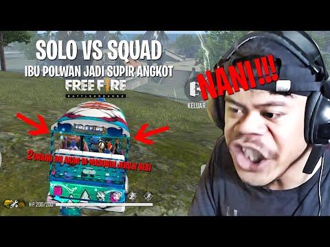 JADI POLWAN SOLO VS SQUAD PAKAI DOUBLE SHOTGUN!!!