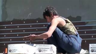 Как приклеивается клинкерная плитка, как делается разметка, наносится клей, ставятся клинышки