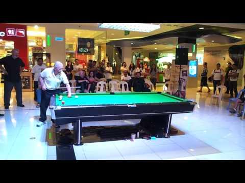 Pool trick shot exhibition FAIL