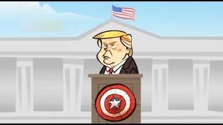 Diez Comics - Donald Trump firma decreto para el partido Honduras vs EEUU