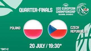 LIVE 🔴 - Poland v Czech Republic - Quarter-Finals - FIBA U20 European Championship Division B 2018