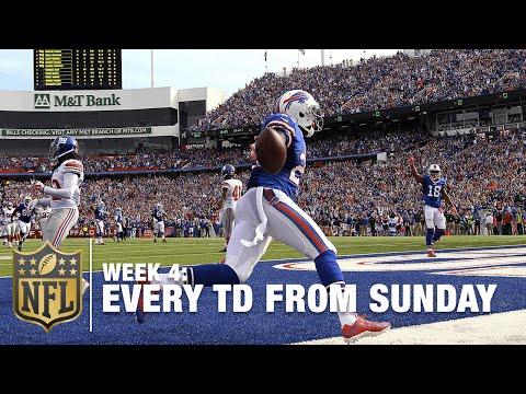 Watch Every Touchdown From Sunday (Week 4) | NFL RedZone