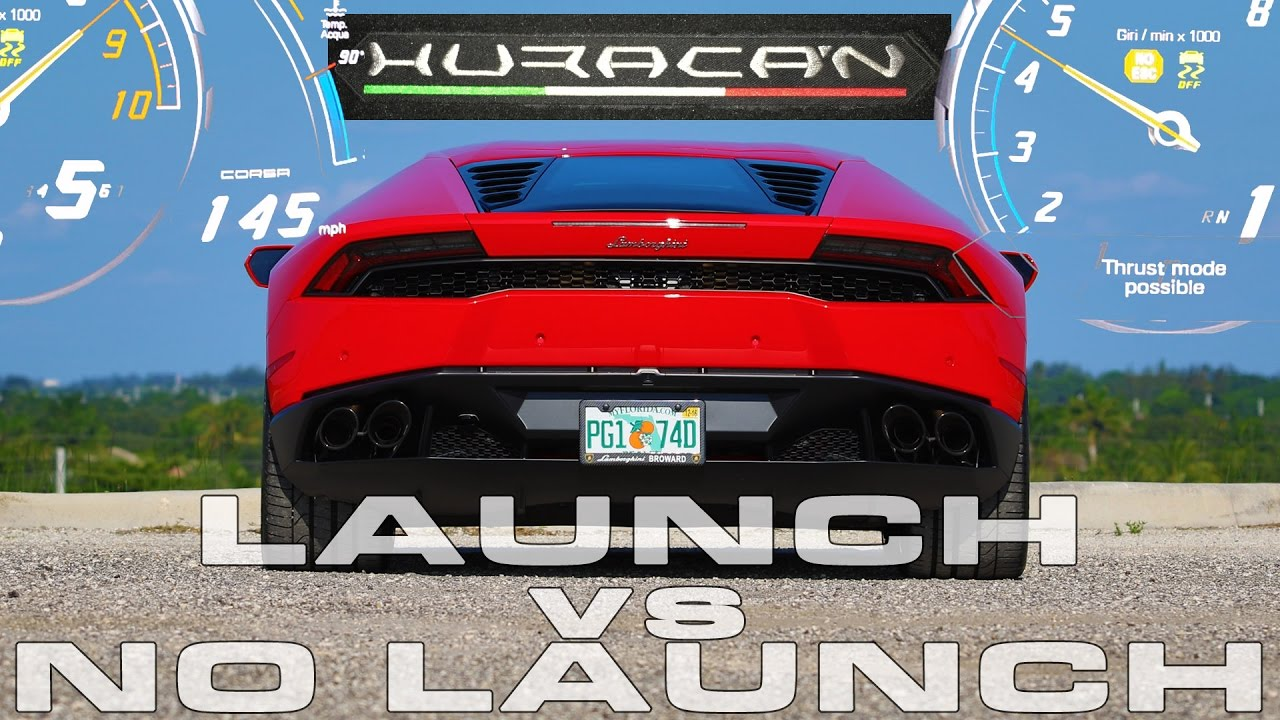 Lamborghini Huracan Lp610 4 0 60 Mph Testing With And Without Launch Control Aka Thrust Mode