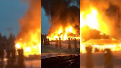 Raw: Scotch Creek Pub burns to the ground