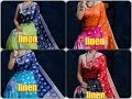 Beautiful Printed Pure linen by linen Sarees -- Bhagini