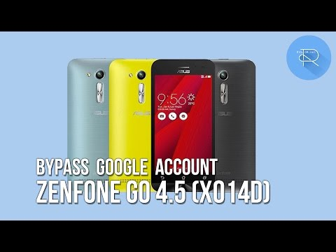 Remove Disable Bypass google account Asus Zenfone Go 4.5 (X014D) android 5.1.1