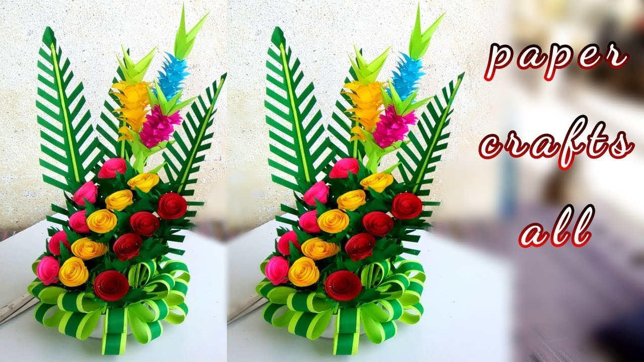 Paper Flower Bouquet 2019 Make Paper Floral Decoration