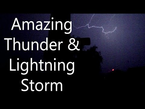 Amazing Lightning and Thunder Storm over Essex - Heavy Rain and Storm
