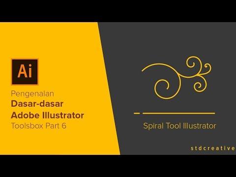 Adobe Illustrator Tutorial | #7. Spiral tool Toolsbox Part 6 | Tutorial Bahasa Indonesia