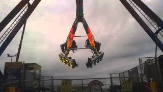 The Freak Out Ride In Action At Barry's Amusements Portrush 2014
