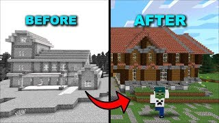 ZOMBIE MARK AND ZOMBIE MATTY BUILD A BRAND NEW HOUSE !! Minecraft !!