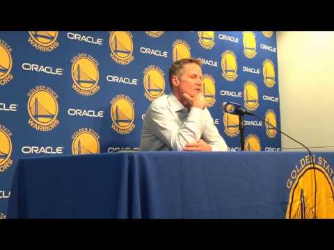"""Kerr on utilizing his NBA playing experiences: """"Willie (Green, asst coach) always has great advice"""""""