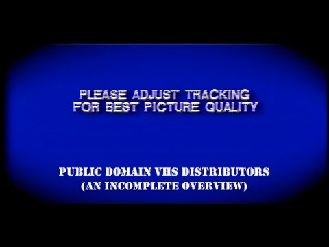 Oddity Archive: Episode 65 - Public Domain VHS Distributors (An Incomplete Overview)