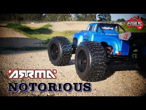 ARRMA Notorious 6S BLX First Run On 4S & 6S - Stock