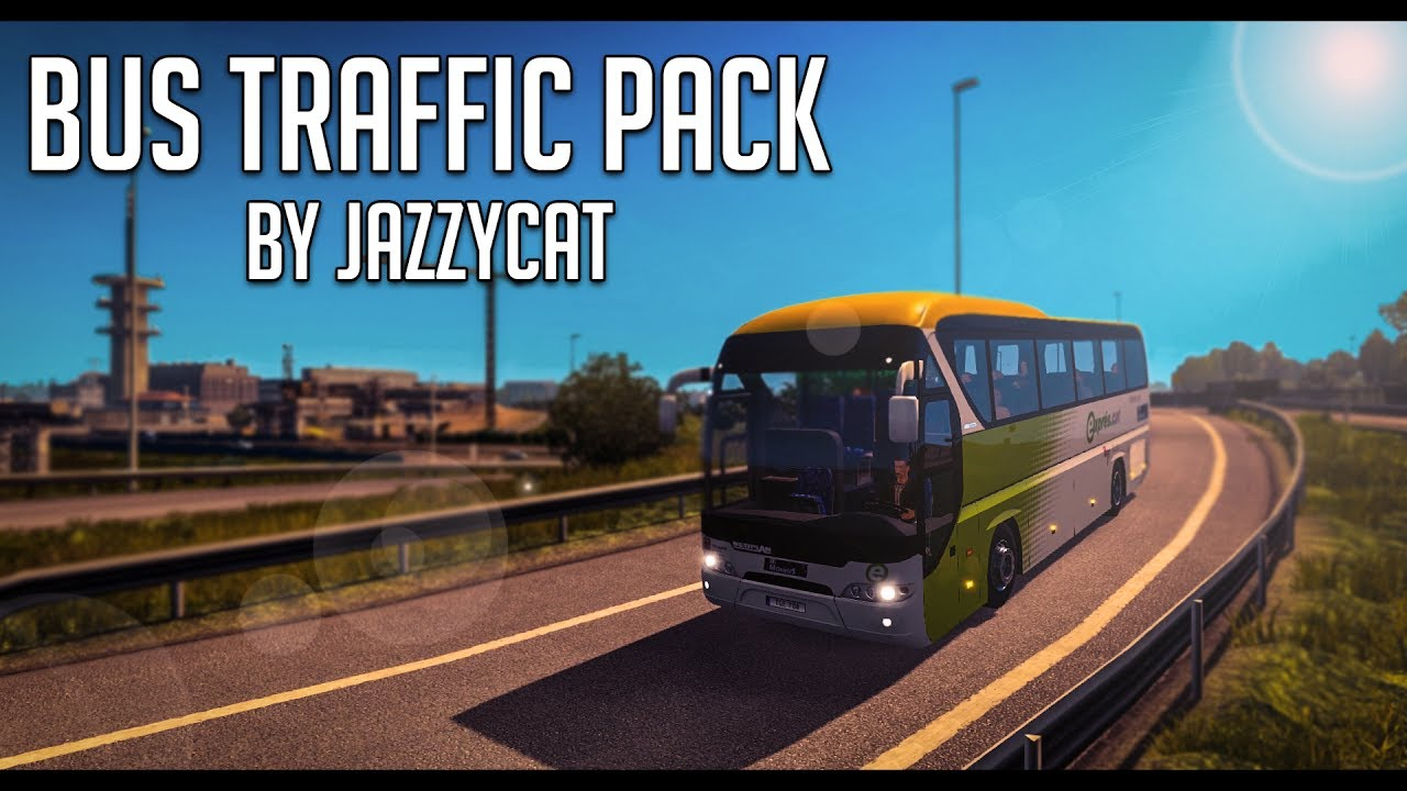 Bus Traffic Pack by Jazzycat v 2 3 | Euro Truck Simulator 2 (ETS2 1 27 Mod)