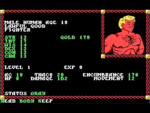 Let's Play 'Pool of Radiance' Part 01 - Character Creation