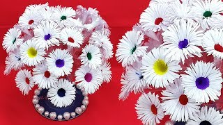 Plastic Bottle Craft Idea With Paper Flower | Best out of waste | DIY Room Decoration