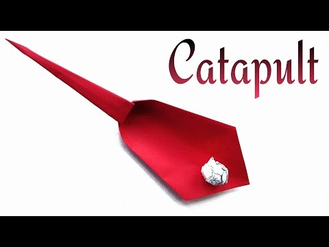 Origami Catapult / Slingshot - Very easy to fold.