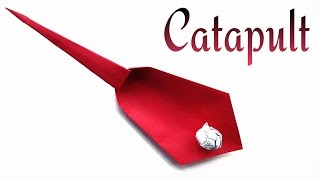 Action Fun Toy Origami tutorial  - Paper 'Catapult' - Very easy to make !