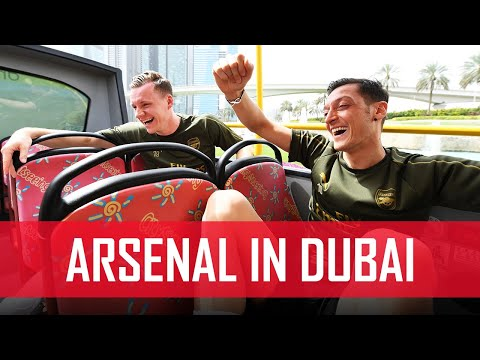 Ozil, Leno, Maitland-Niles & Mustafi go sightseeing in Dubai | #ArsenalinDubai