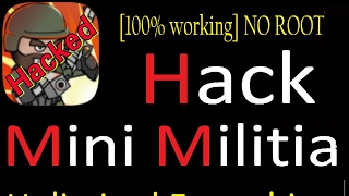 [Hindi] How to Hack Mini Militia with apk editor pro | Unlimited everything [NO ROOT] [100% working]