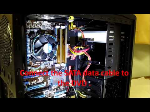 How To Build A PC ( 11 ) Connecting The SATA Cables.