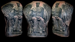 Video Religious Angel Tattoo Full Back piece download MP3, 3GP, MP4, WEBM, AVI, FLV Agustus 2018