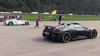 Porsche 918 Spyder vs Bugatti Veyron Grand Sport Vitesse