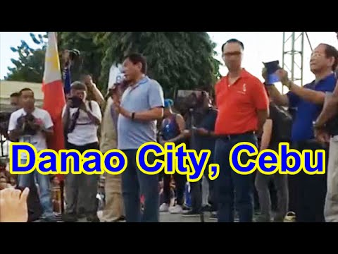 DUTERTE visits DANAO City CEBU - Complete Video