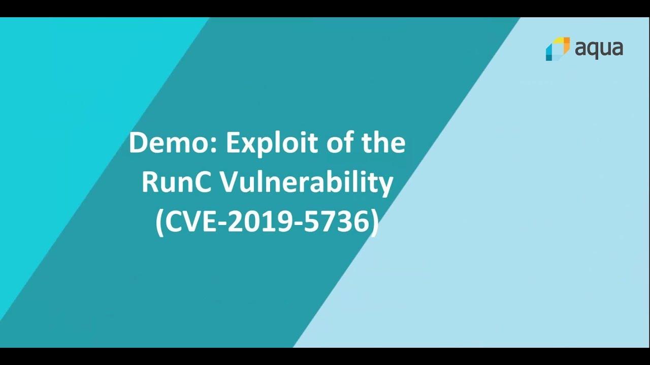 Exploit demo of the RunC vulnerability CVE-2019-5736
