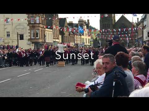 Whitburn Band Beating the Retreat Peebles June 2018 part 2