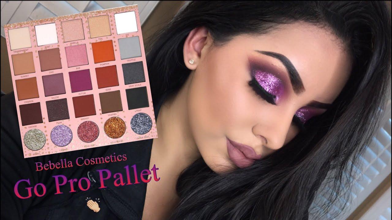 Bebella Cosmetics - Go Pro Pallet - Purple Glitter Eyeshadow