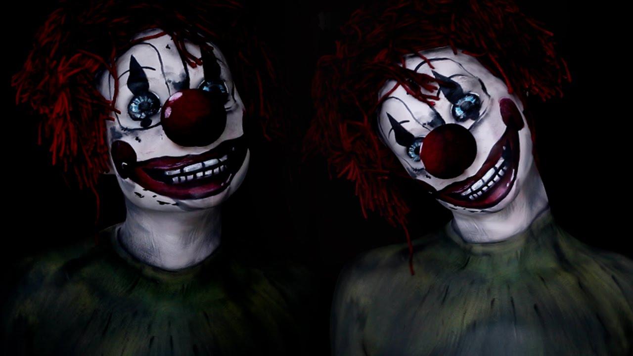 Poltergeist Clown Movie Makeup Tutorial 2015 Youtube