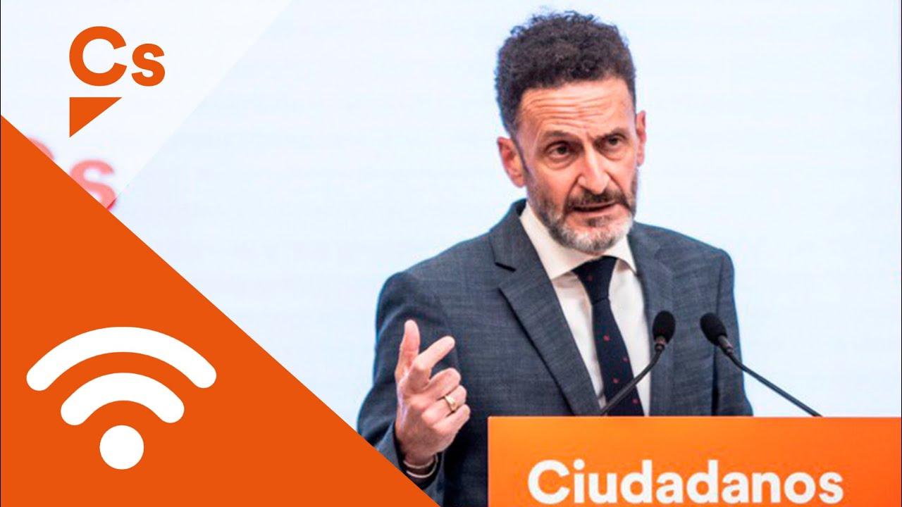Edmundo Bal. Rueda de prensa tras reunión con el Gobierno