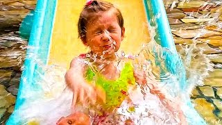 Германия #2 Аквапарк где были НАСТЯ МАКС и КАТЯ Tropical Islands Горки Бассейн Детская площадка
