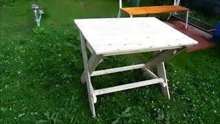 Как сделать стол своими руками  быстро ,дешево ,на дачу ,для дома