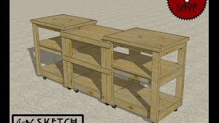 Chief's Shop Sketch Of The Day: Simple Miter Saw Stand